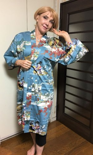 "Photo1:  Boating ""Happi-coat"" robe"