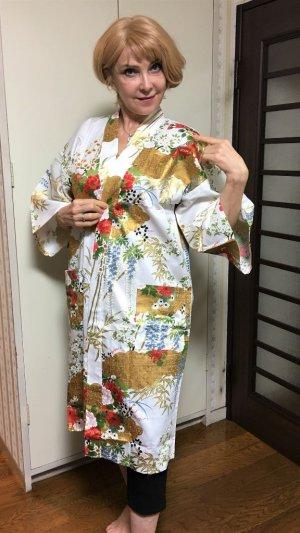 """Photo1: Bamboo and peony """"Happi-coat"""" robe"""