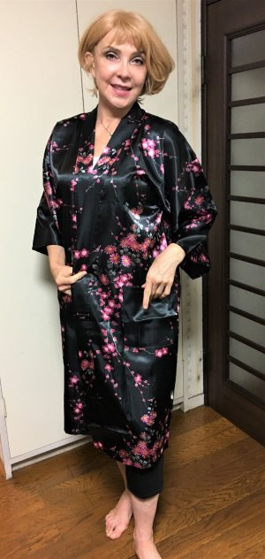 "Photo1: Plum & Bird ""Happi- Coat"" robe"