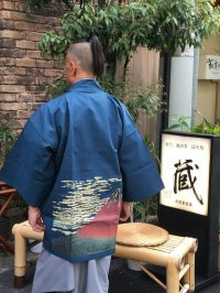 """北斎 (HOKUSAI)"" HAPPI-COAT(Short Cotton Robe)"